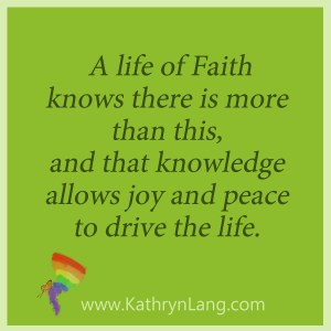 Lack of faith or life of faith