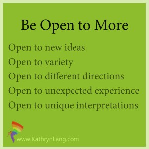 be open to more