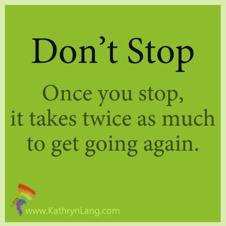 keep momentum