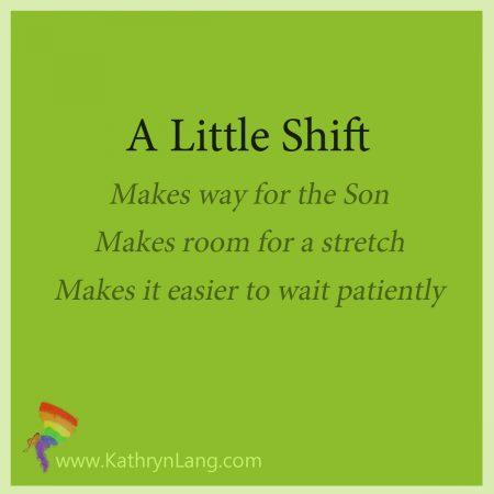 Making a little shift