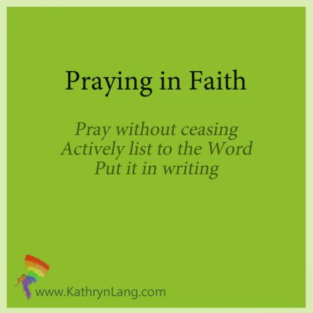 praying in faith