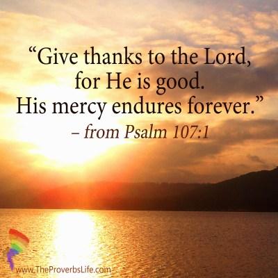 Scripture Focus - Psalm 107:1