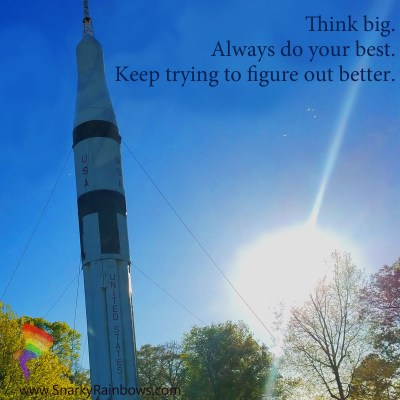Think big - quote of the day for July 18 2019