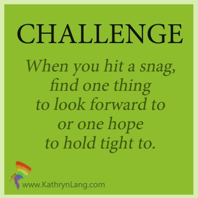 Challenge to see the silver lining
