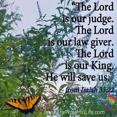Scripture of the day for july 9 Isaiah 33:22
