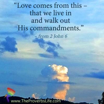 Scripture Focus - 2 John 6