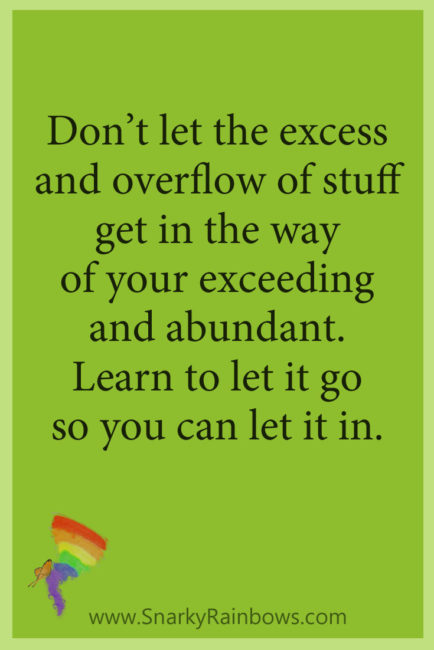 Growing HOPE quote - learn to let go