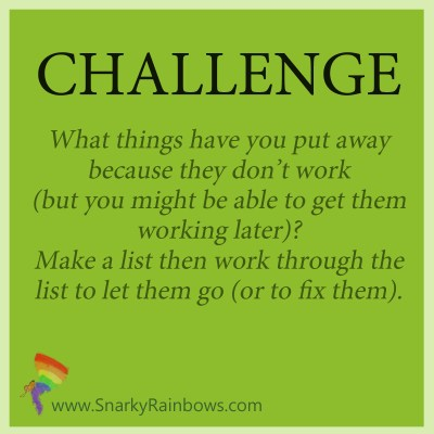 Daily Challenge - release the unusable