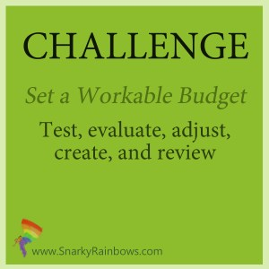 Challenge of the Day - set a budget