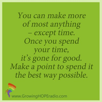 GrowingHOPE daily - quote no more time