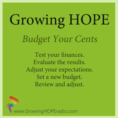 GrowingHOPE daily - five tips to budget your cents