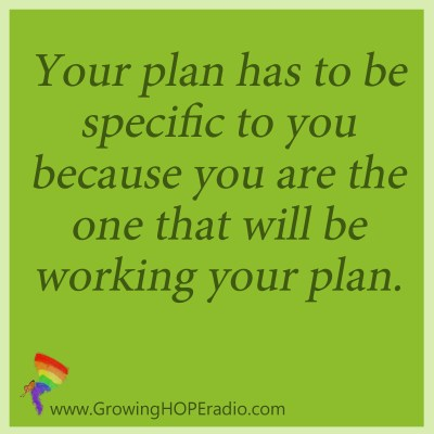 Growing HOPE Daily quote - your plan