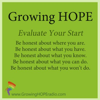 Growing HOPE Daily - 5 points to evaluate your start