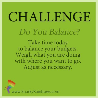 Challenge for October 10 - balance the budget