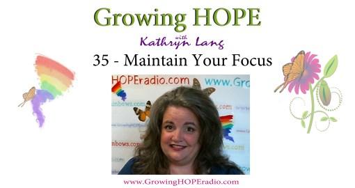 GHD header 35 - Maintain your focus