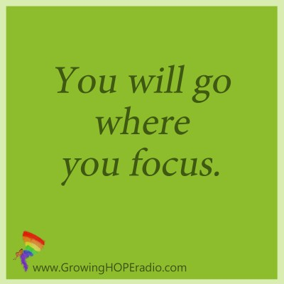 GHD - quote - go where you focus
