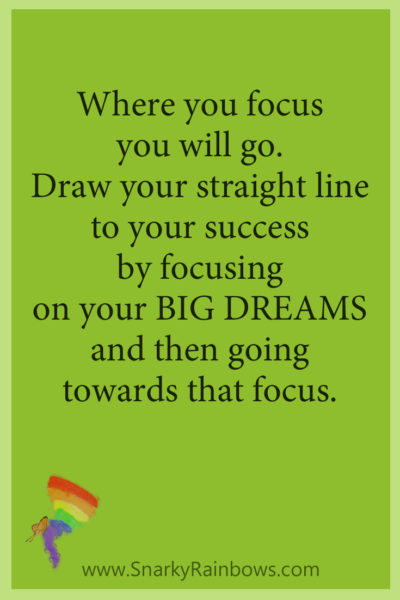 GHD Quote pinterest - focus on BIG DREAMS
