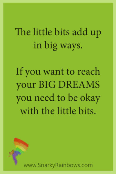 Growing HOPE - quote - little bits add up