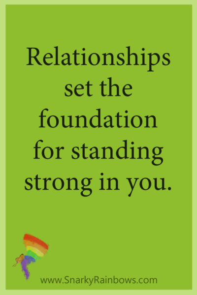 #GrowingHOPE Daily - quote - relationships set the foundation
