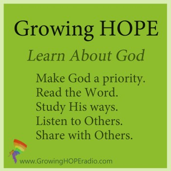 #GrowingHOPE daily - 5 points - learn about God
