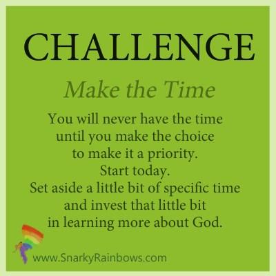 Challenge - make the time