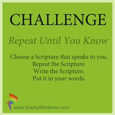 Challenge for October 23 - repeat to remember