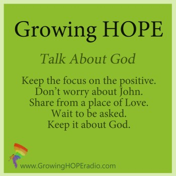 Growing HOPE Daily - 5 points - Talk About God
