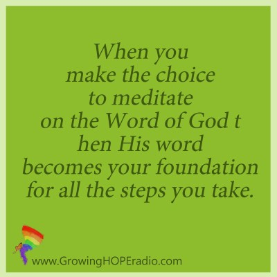 Growing HOPE daily - meditate for foundation