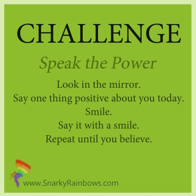 Challenge - speak the power