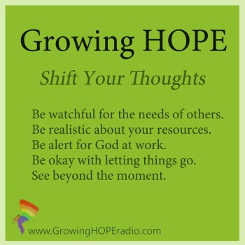 #GrowingHOPE daily - 5 points - shift the thoughts