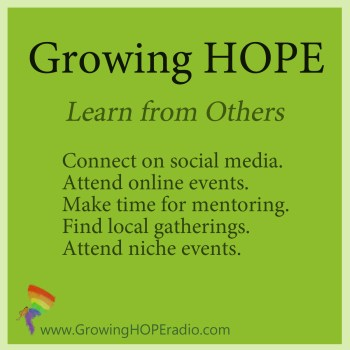 GrowingHOPE daily - five points learn from others