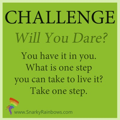 Challenge for October 30, 2019 - will you dare