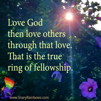 Quote of the Day - ring of fellowship