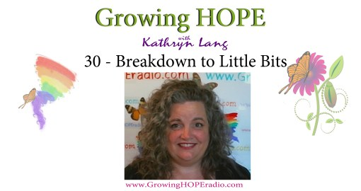 Growing HOPE daily - 30 breakdown the little bits