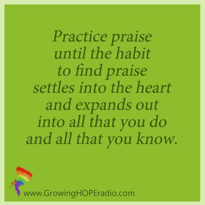 Growing HOPE - quote - purposeful in praise