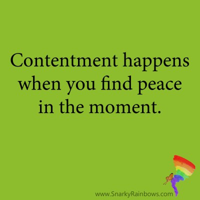 Quote for contentment