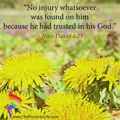Scripture Focus - Daniel 6:23