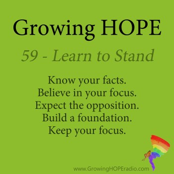 Growing HOPE Daily - 5 points - learn to stand