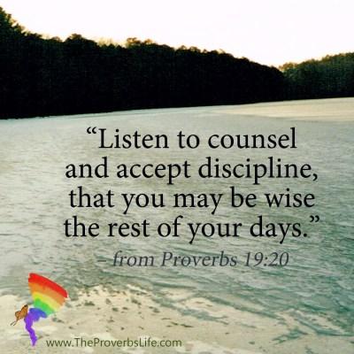 Scripture Focus - Proverbs 19:20