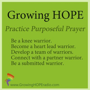 #GrowingHOPE Daily - 5 points - practice purposeful prayer