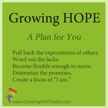 #GrowingHOPE Daily - 5 points - plan for you