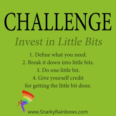 Daily Challenge for December 11 - invest in little bits