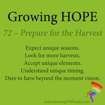 Growing HOPE Daily - 5 Points - 72 – Prepared for the Harvest