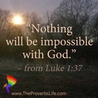Scripture Focus - Luke 1:37