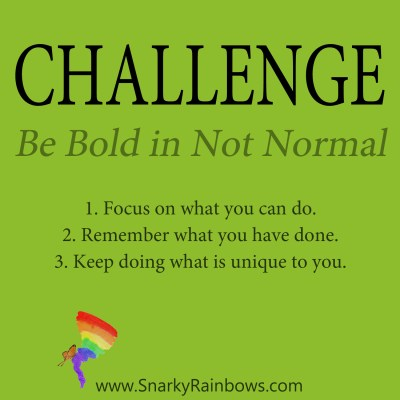 Daily Challenge - be not normal