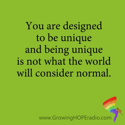 #GrowingHOPE Daily - quote - not normal