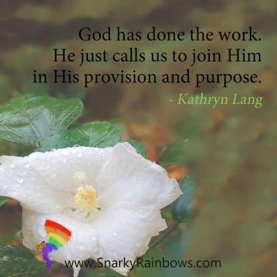#QuoteoftheDay - God has done the work