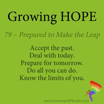 Growing HOPE Daily - 5 points - 79 – Prepared to Make the Leap