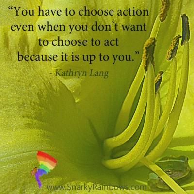 #QuoteoftheDay - choose action