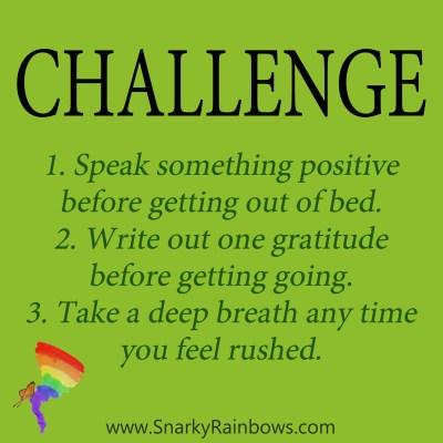 Daily Challenge - start better